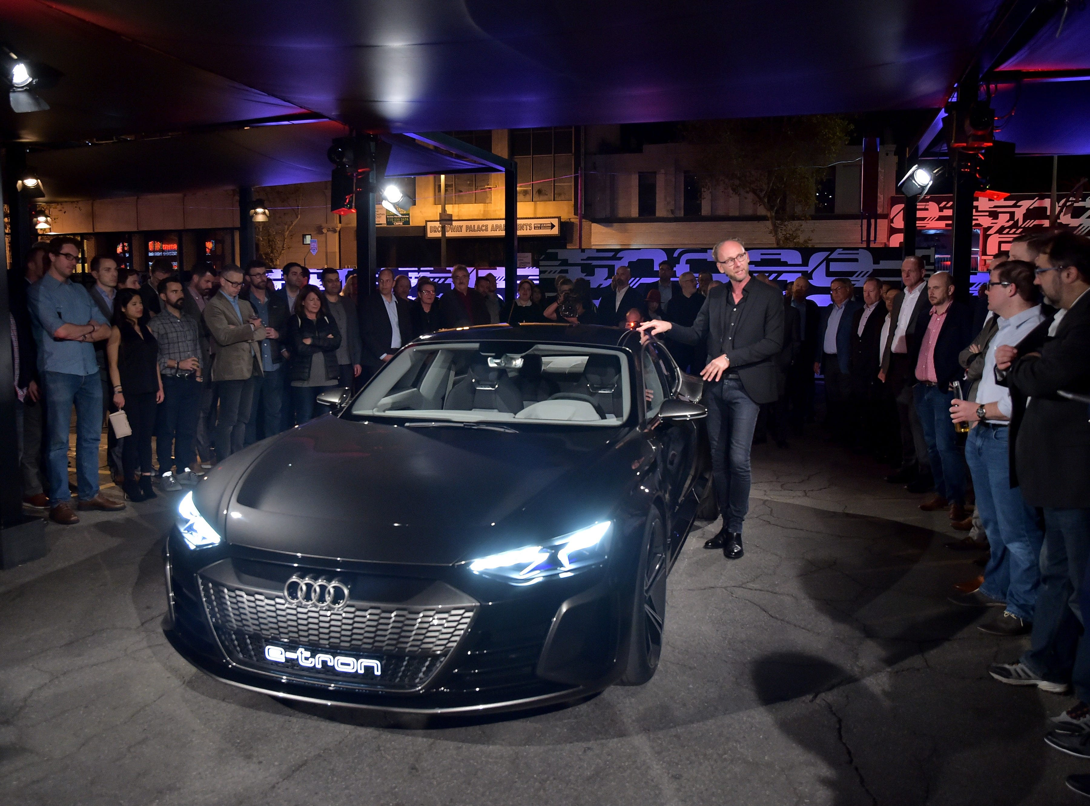 Head of Design of Audi AG, Marc Lichte attends the global reveal of the Audi e-tron GT concept in Los Angeles on Monday, November 26th, 2018.