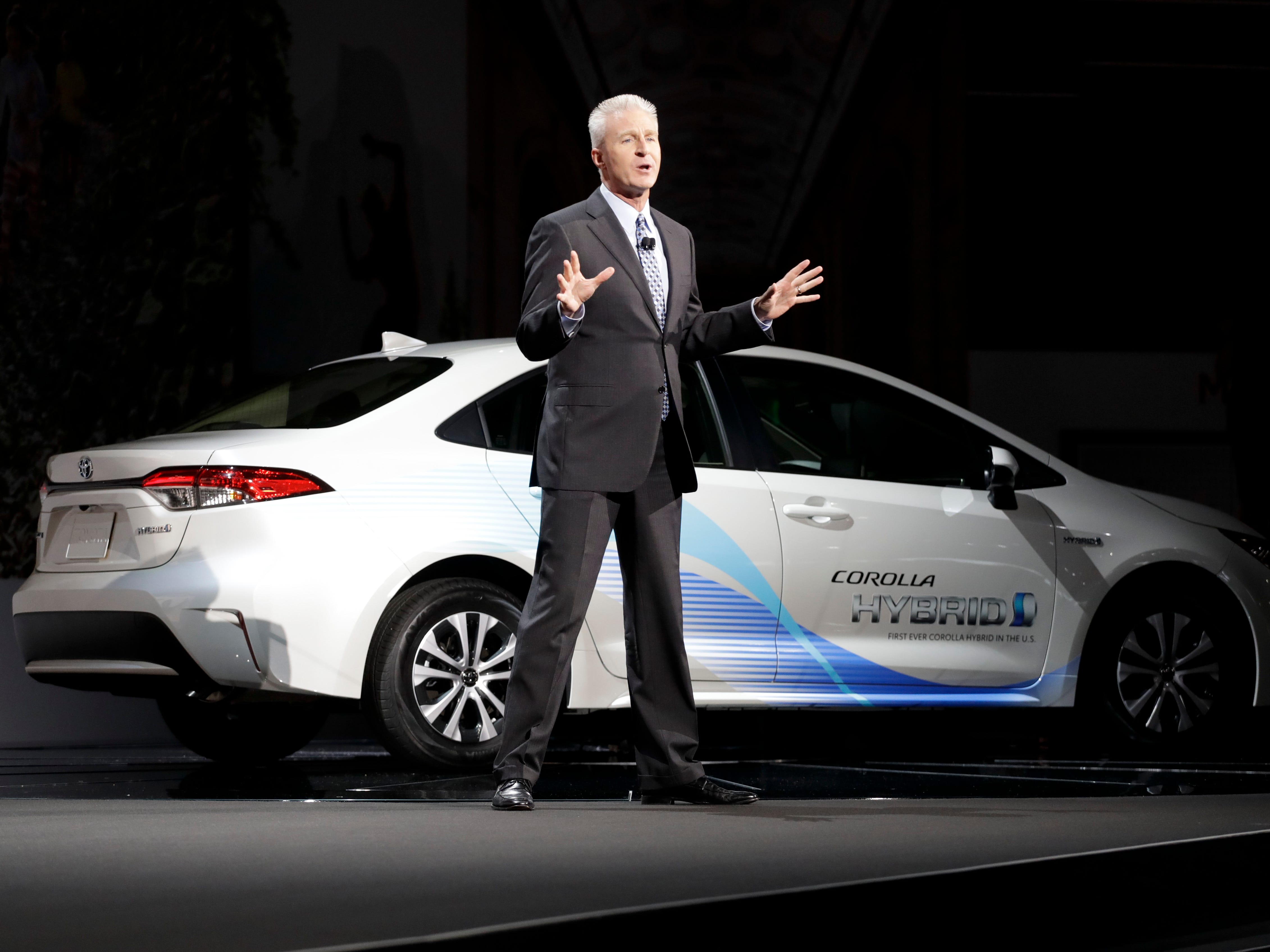 Jack Hollis, Toyota Division group vice president and general manager talks about the 2019 Toyota Corolla Hybrid.