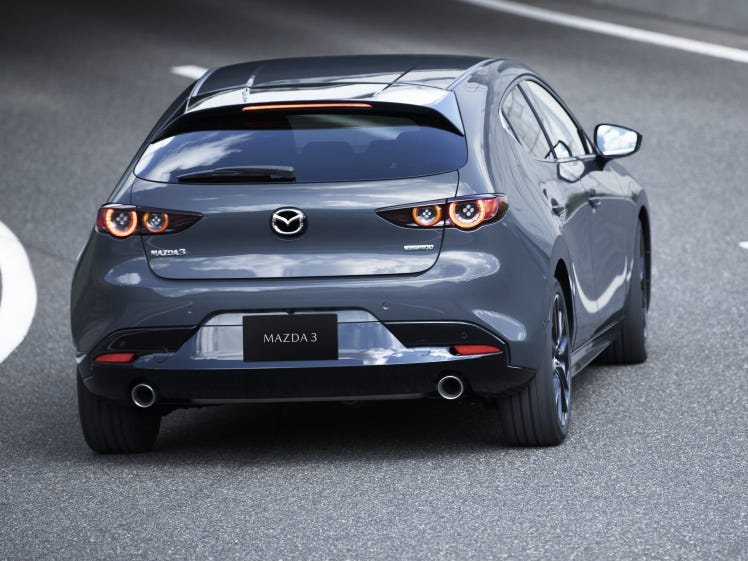 The new Mazda 3 debuted at the Los Angeles Auto Show on Tuesday.