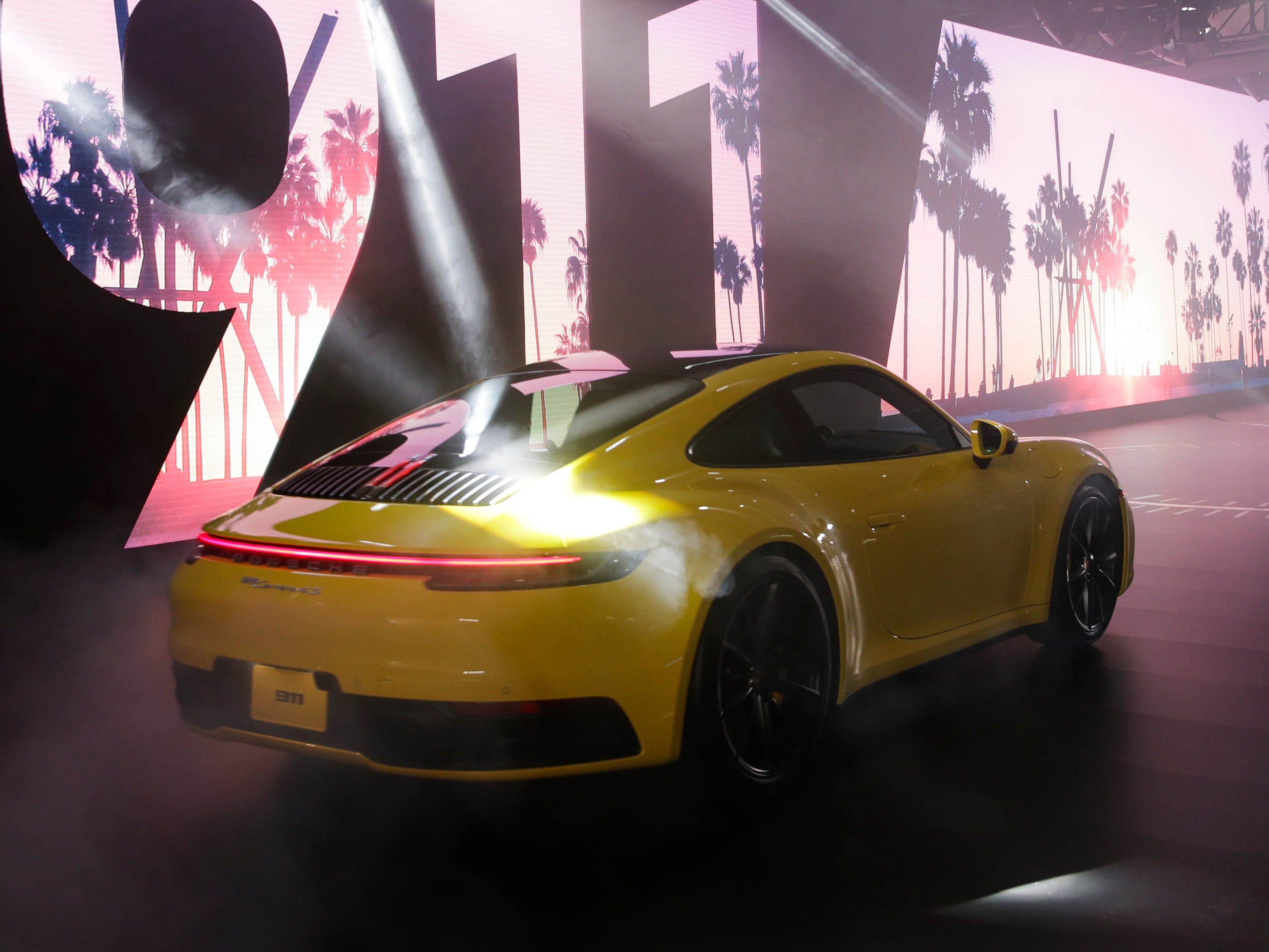 The 2020 Porsche 911 is unveiled at the Los Angeles Auto Show Wednesday, Nov. 28, 2018, in Los Angeles.