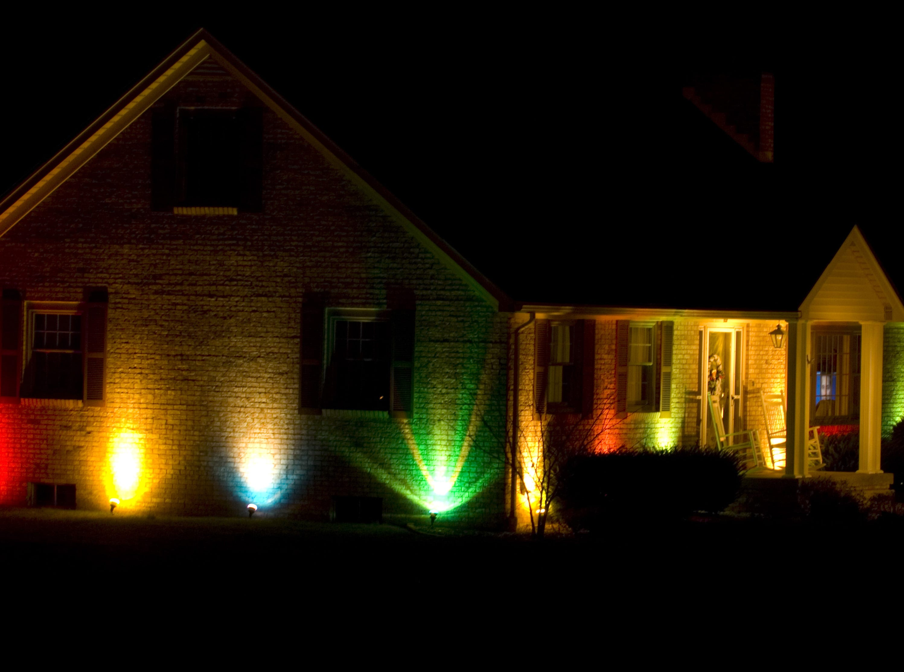A Warrick County home decked out in lights just off Hwy 66 between Yankeetown and Newburgh.