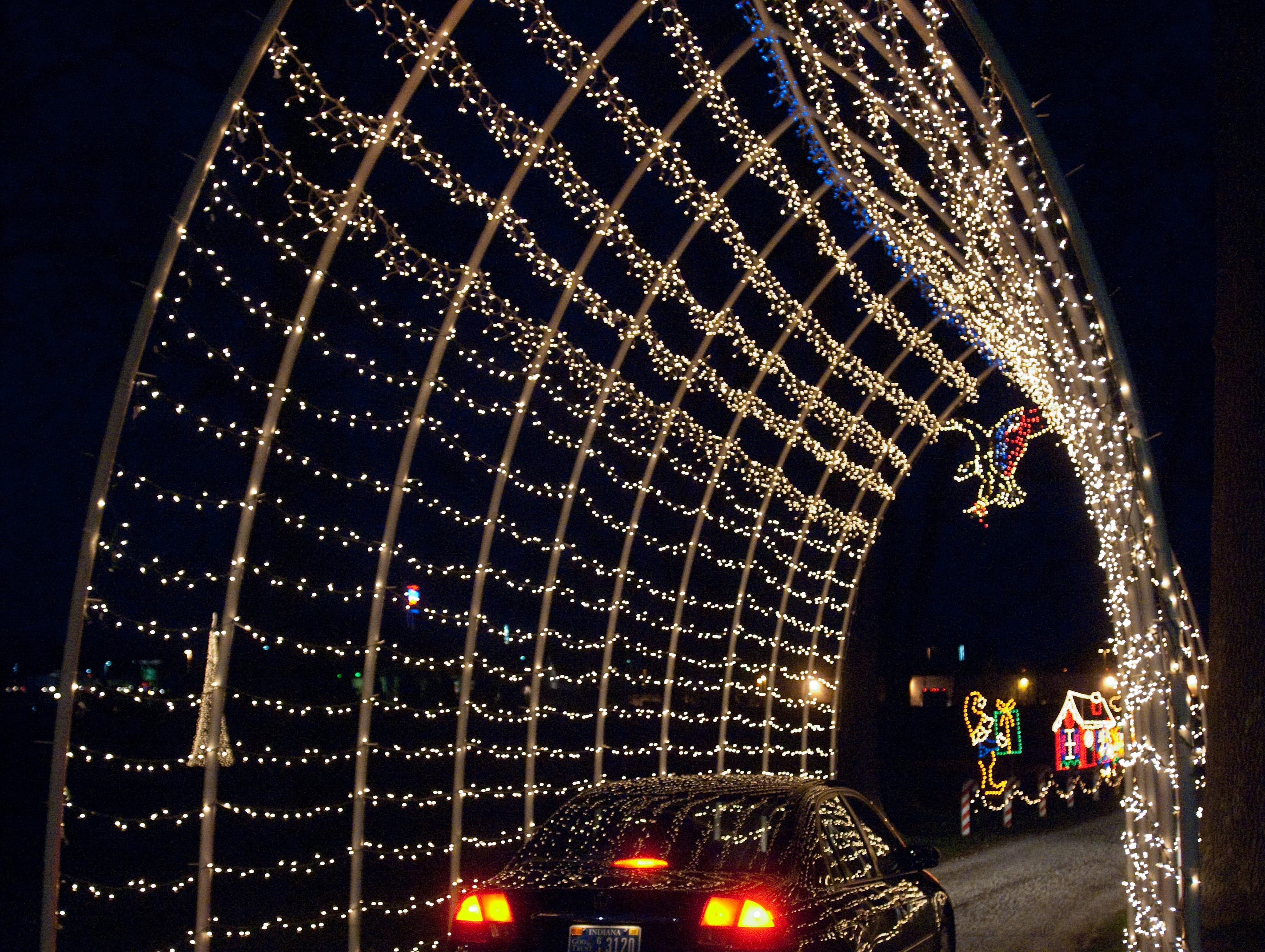 Car drive through Winter Carnival Christmas light displays Friday night at the Vanderburgh 4-H Center.