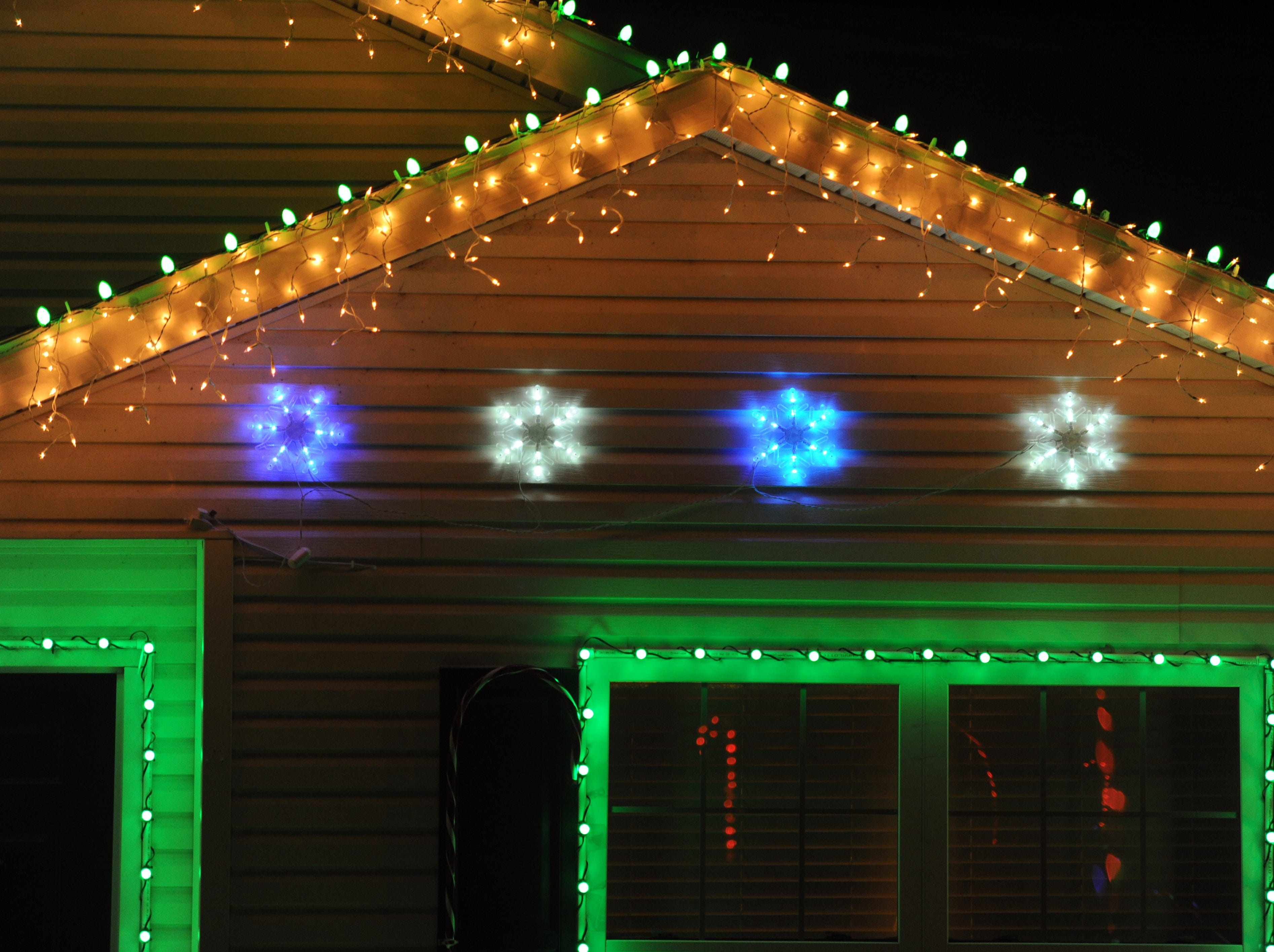 Bobby Wilcox is using RGB LED lights and he can change the color of each bulb as he desires, allowing the same strand of lights to be multiple colors in his  light show set to music for Christmas at his home at 6900 Boston Drive in Newburgh, Ind. As seen on Monday, Dec. 16, 2013, Wilcox said he is already planning his Christmas display for 2014.
