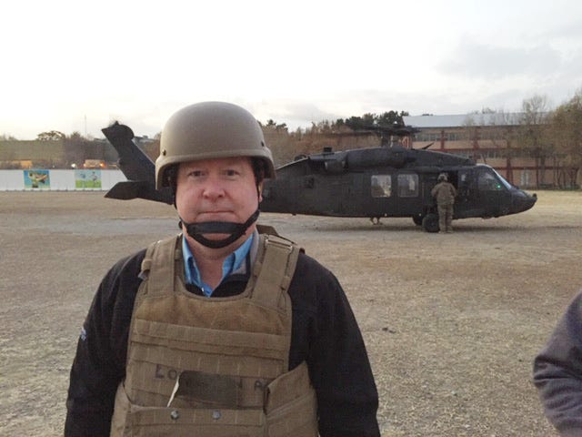 8th District Rep. Larry Bucshon traveled by Blackhawk helicopter on a recent visit to Afghanistan.