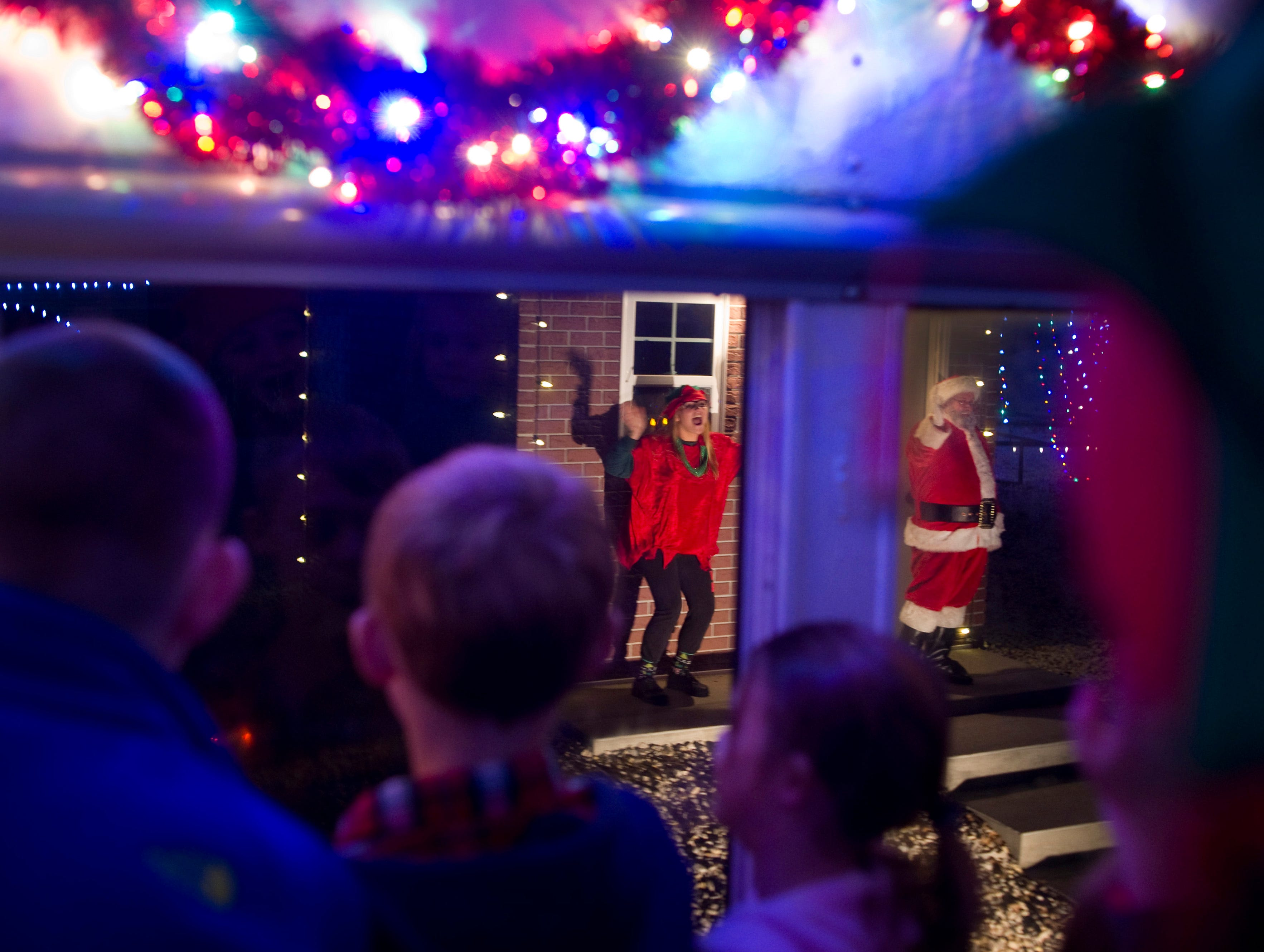 """I see him! Santa! Santa! Hey, Santa!"" were some of the cries as The Polar Express arrived at the North Pole to pick up everyone's favorite gift-giving elf."