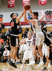 "Fond du Lac boys basketball junior Mack Sebert (12) said ""The Last Dance"" docuseries has introduced him to NBA great Michael Jordan's playing style."