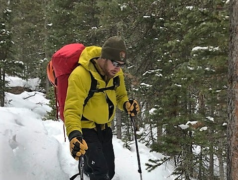 Searching in lower elevation Longs Peak area November 27, 2018.