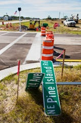 Infrastructure and construction projects continue along Pine Island Road recently in Cape Coral.