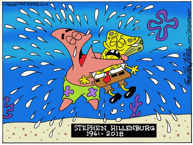 SpongeBob creator obit commentary from Bob Englehart, Middletown, CT