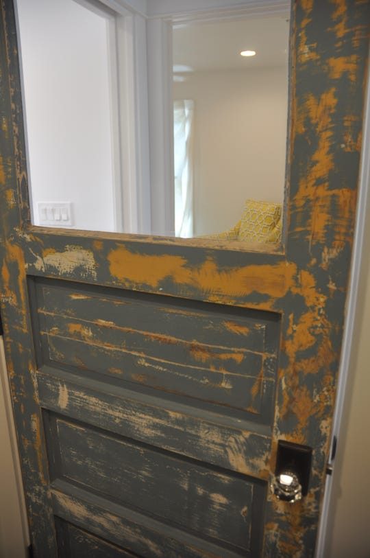 Old doors were used throughout the house to give it an historic look.