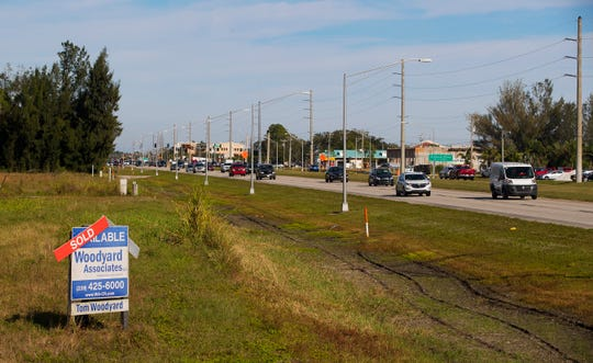 Land on both sides of Pine Island Road is being purchased to accommodate Cape Coral's rapid growth.