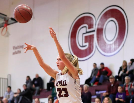 De Pere's Jordan Meulemans is averaging 12.6 points and shooting 50 percent during the Redbirds' 9-1 start.