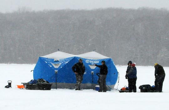 Pop-up ice-fishing shanties make it easy to enjoy even the windiest and snowiest days on the ice.