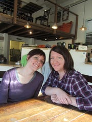 Sisters, Lindsay, left, and Leah Robinson, own and operate Crooked Tree Coffee & Cakes at 501 1st Ave. S. Lindsay heads up the coffee side and Leah is cake specialist.