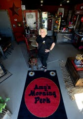 Amy Roberts, owner of Amy's Morning Perk, has opened a new location at 721 6th St. SW in the former Ryan's Station building.