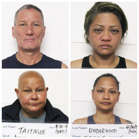 Manuel Edward Duenas Aguon, Emily Floripes Babauta, Kala Jo Taitague and Jessie Babauta Underwood