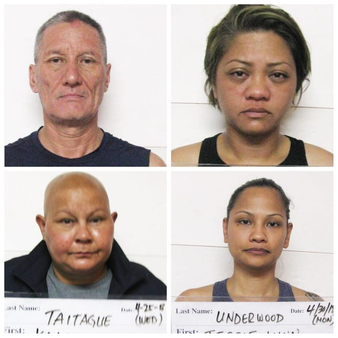 Manuel Edward Duenas Aguon, Emily Floripes Babauta, Kala Jo Taitague and Jesse Babauta Underwood are shown in this combined photo.