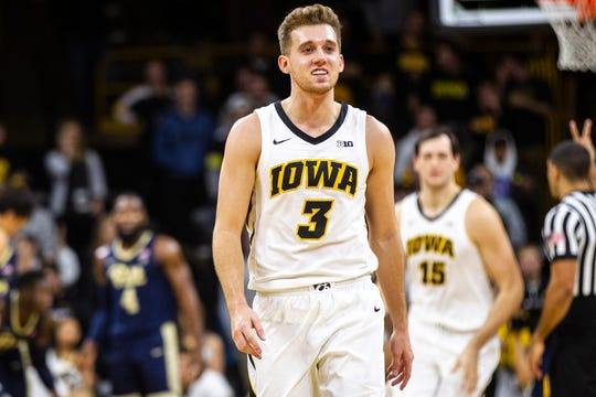 Iowa point guard Jordan Bohannon said his team isn't dwelling on negative comments from radio broadcaster Gary Dolphin. The focus is solely on beating Wisconsin on Friday, Bohannon told reporters Thursday.