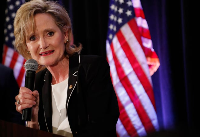 Republican U.S. Sen. Cindy Hyde-Smith, pictured in 2018, is seeking her first full term in Congress.