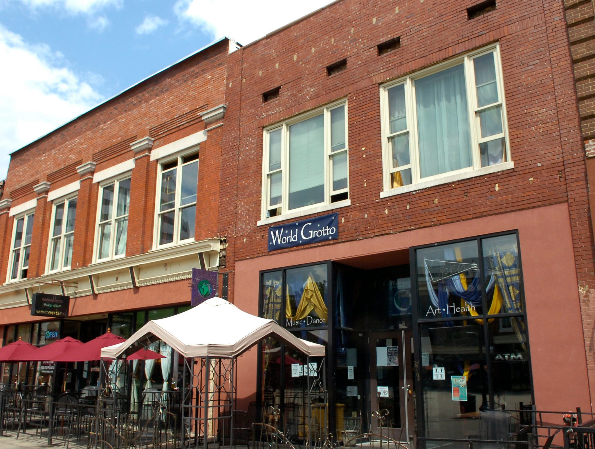 The World Grotto, located in Market Square, downtown Knoxville on Tuesday September 1, 2009. The business, which has been open for five years, will be closing on Saturday after a final evening of entertainment.