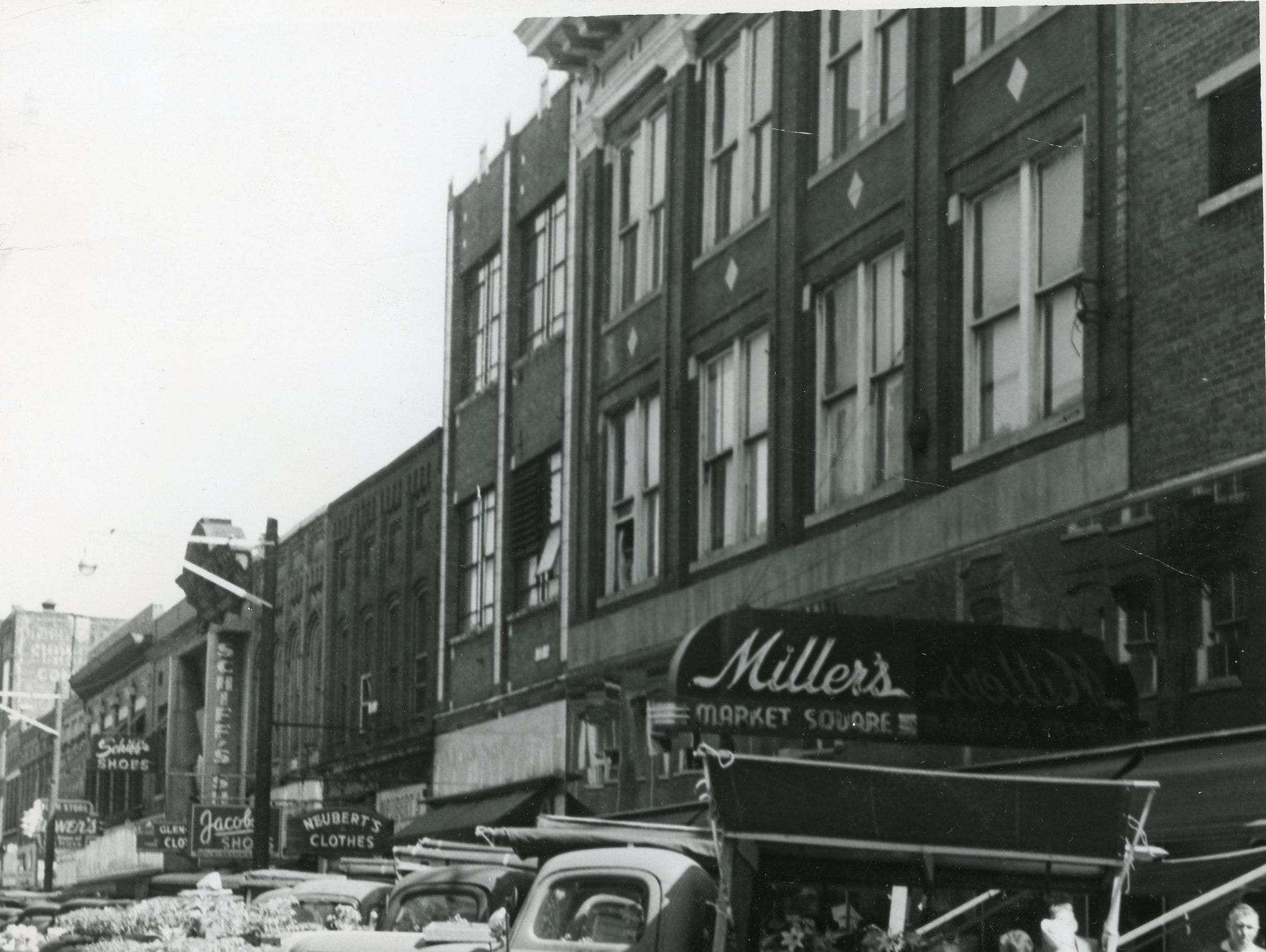Market Square Mall, April, 1960.