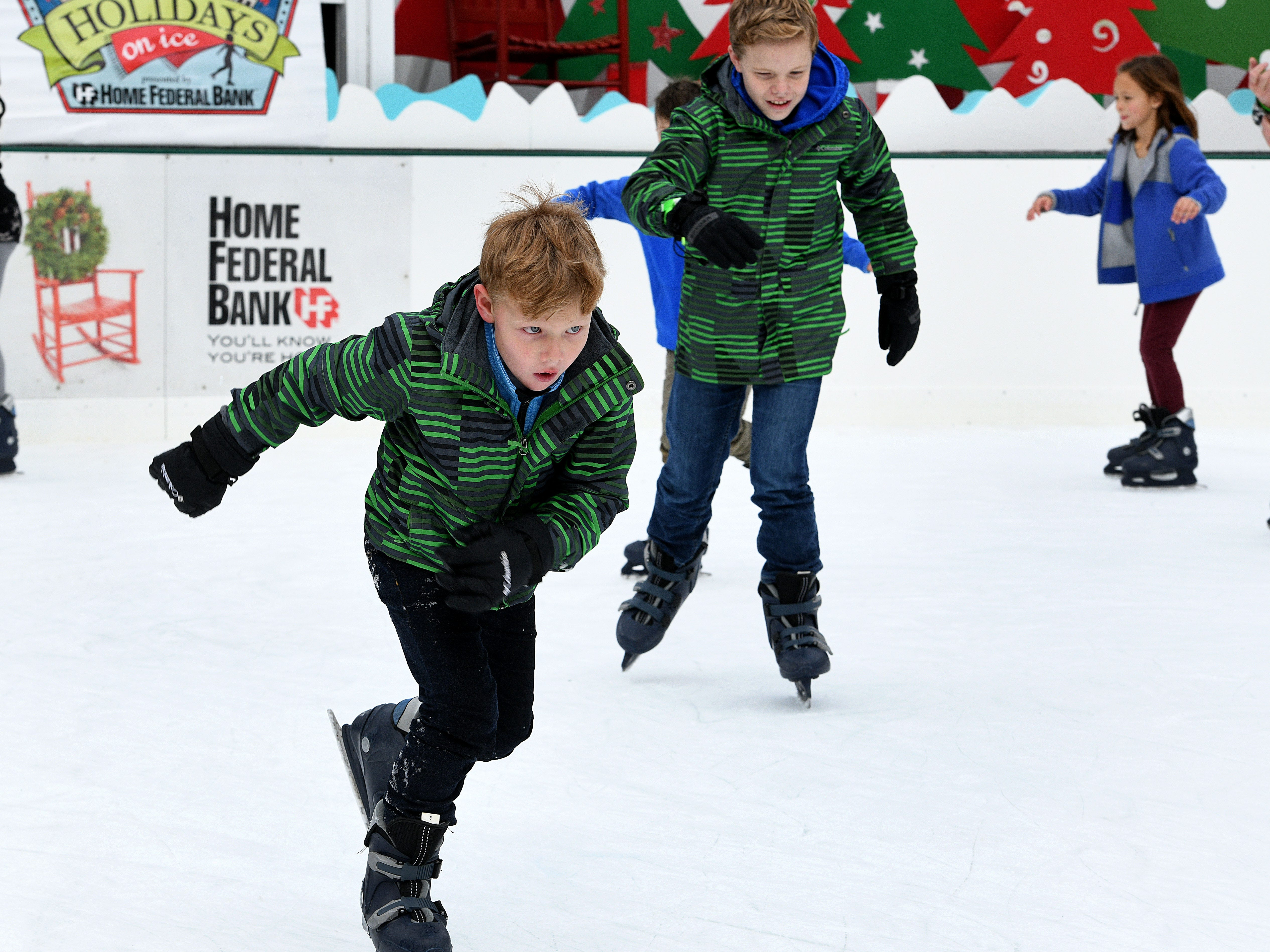 First day of ice skating on Market Square Friday, Nov. 23, 2018. Skating hours are 10 a.m. to 10 p.m. Families and friends enjoyed skating in the heart of Downtown Knoxville in Market Square.