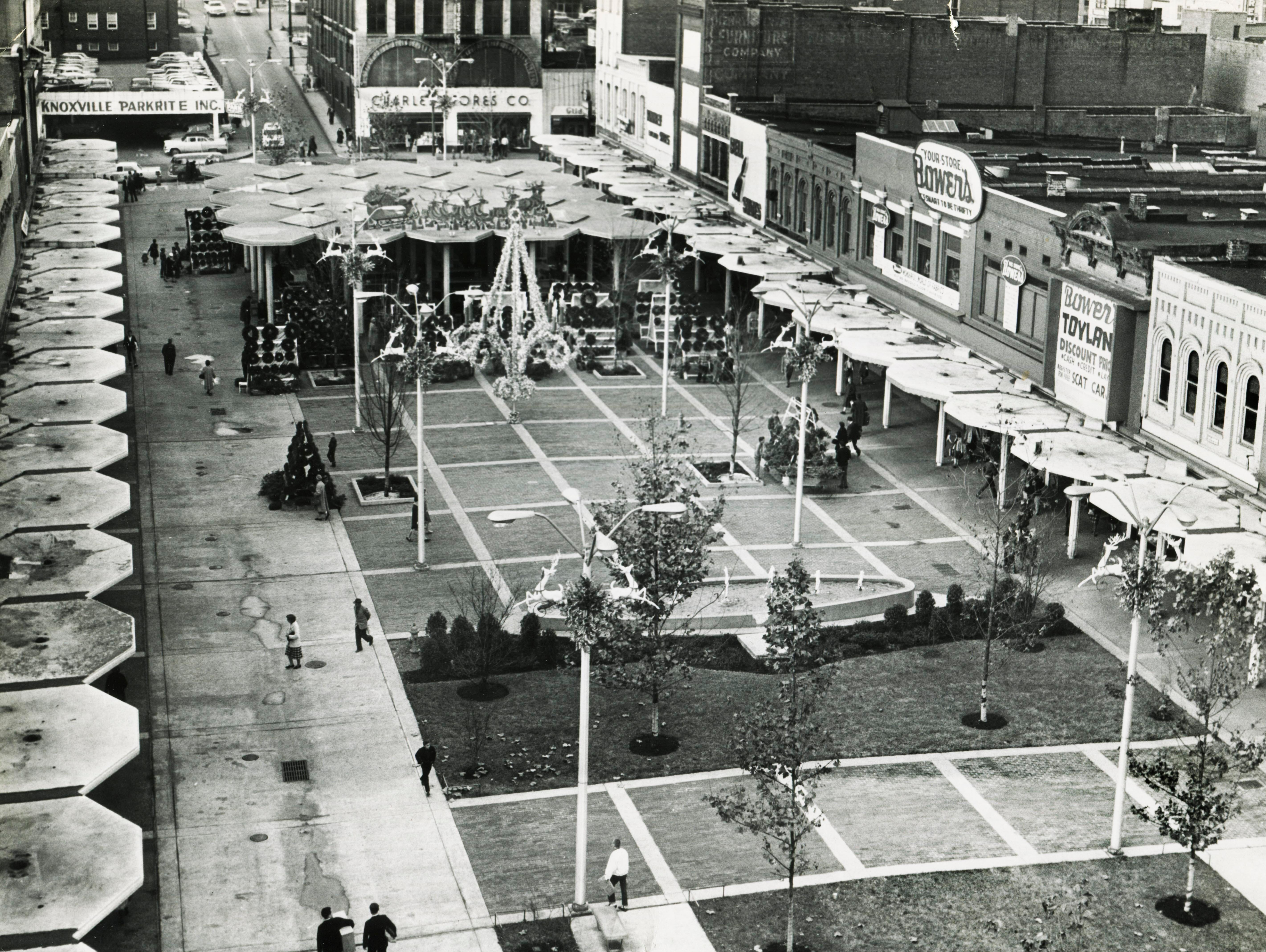 Market Square is pictured Dec. 23, 1962. (NEWS SENTINEL ARCHIVE)