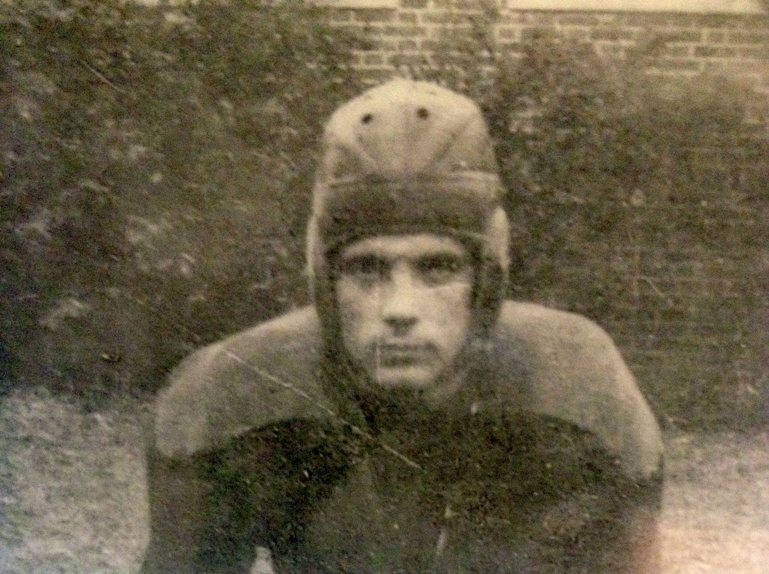C.R. Clough was captain of the Clinton High School football team his senior year, 1937.