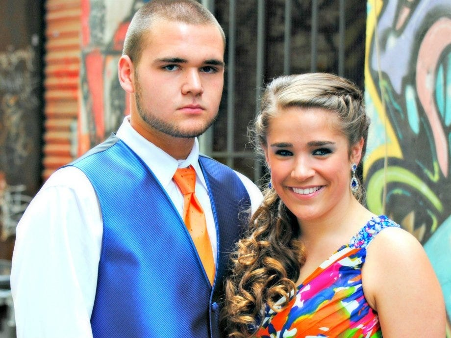From left, juniors Robert Bolden and Samantha Wandell attended the Clinton High School prom at the Foundry on April 21.