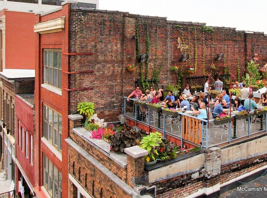 The Moonshine Roof Garden atop Preservation Pub.