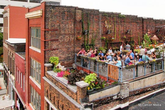 The Moonshine Roof Garden is atop Preservation Pub.