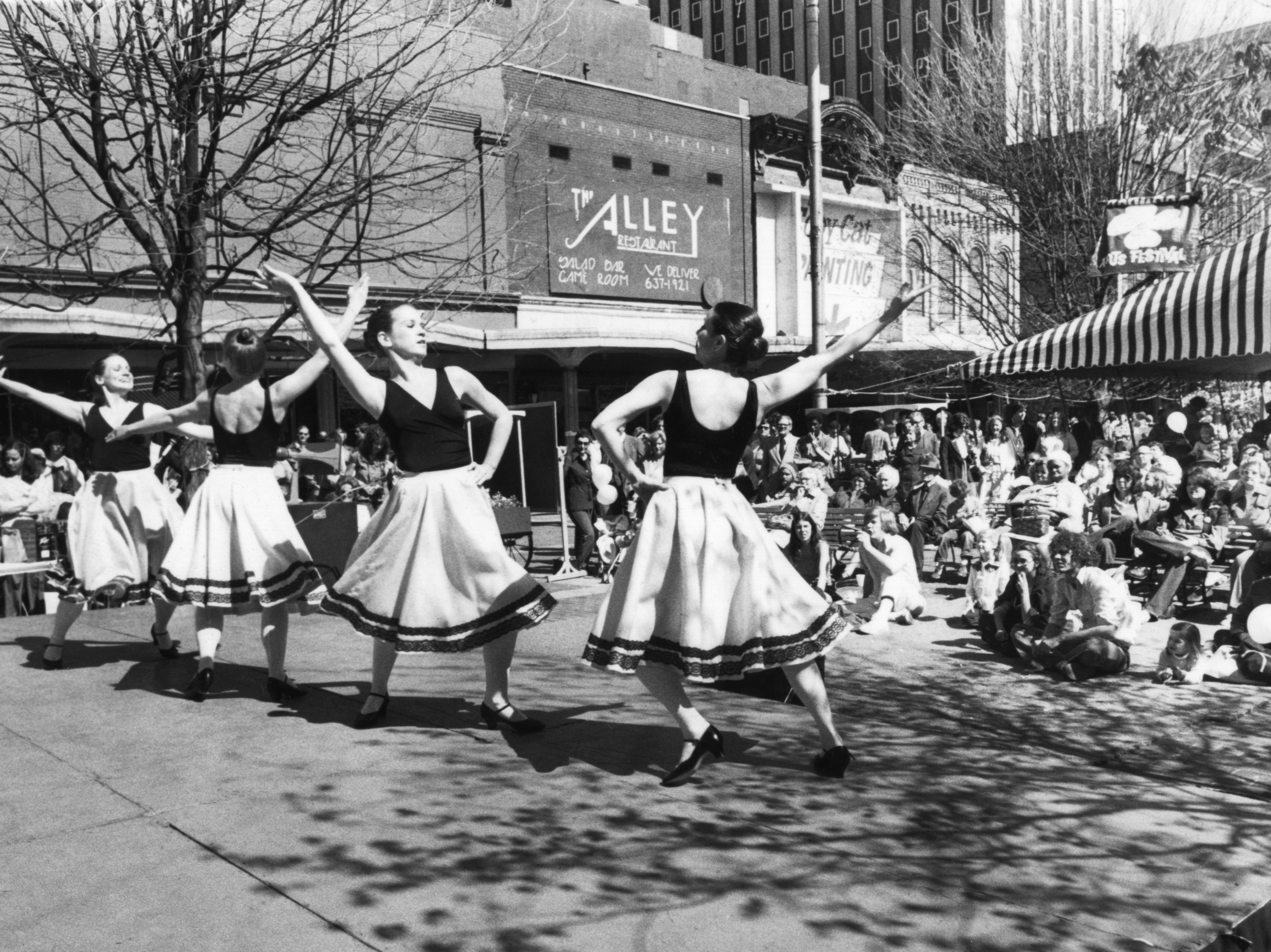The Tennessee Dance Theater performs during the Dogwood Arts Festival April 16, 1980 at Market Square.