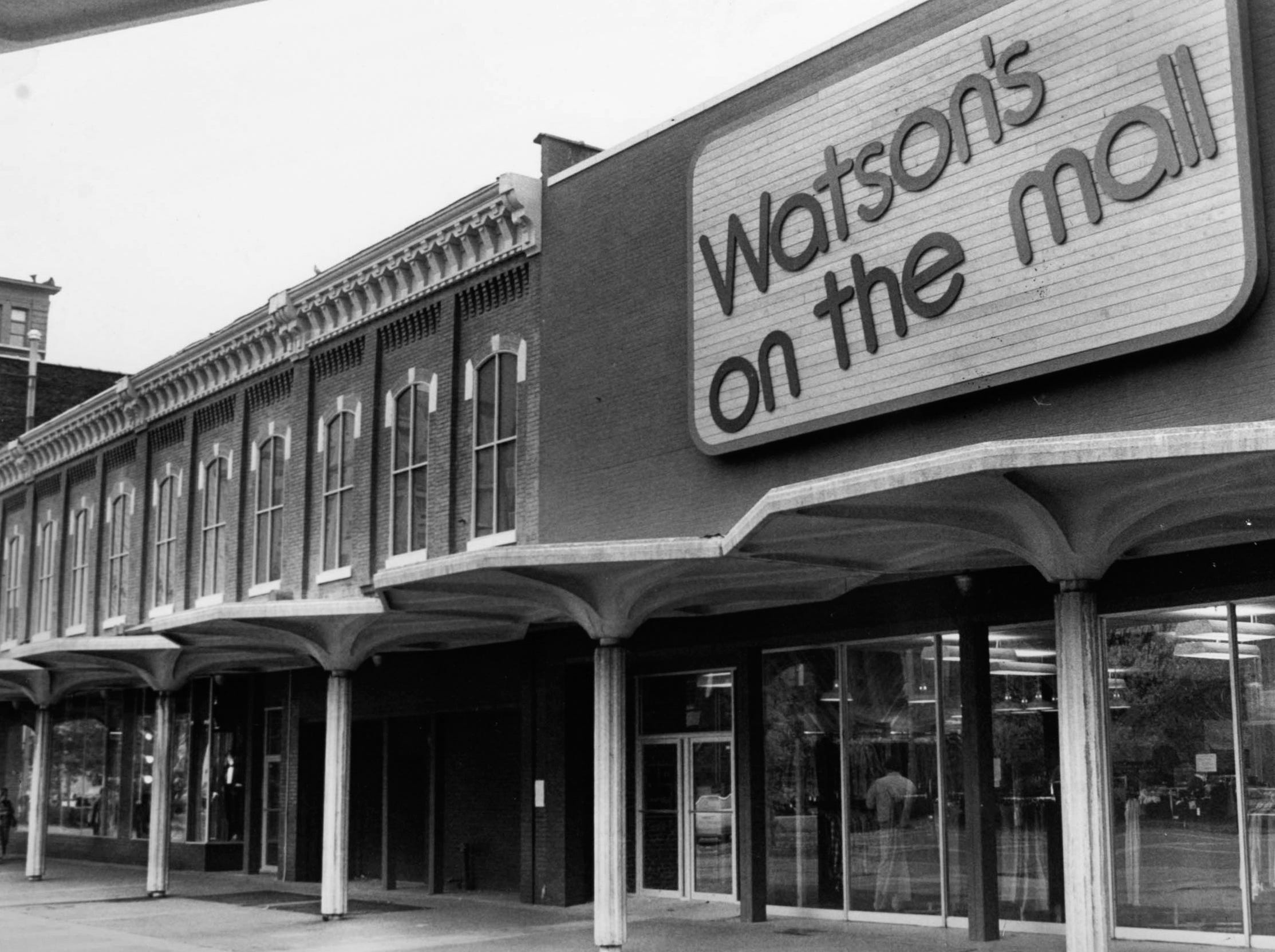 Watson's on the Mall, pictured Nov. 19, 1978, at Market Square Mall.