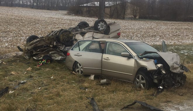 Six people were injured Wednesday morning in this Clinton County crash on Indiana 26 near County Road 680 West.