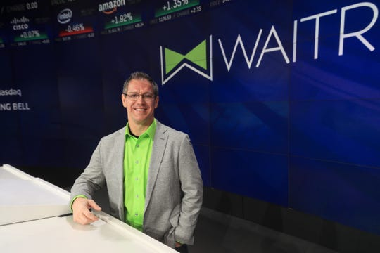 WAITR CEO Chris Meaux at the New York Stock Exchange.
