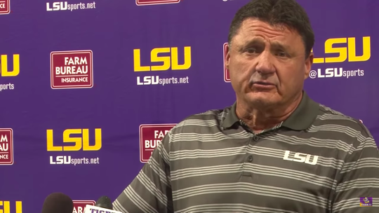 LSU head football coach Ed Orgeron said the school has expanded counseling for athletes.