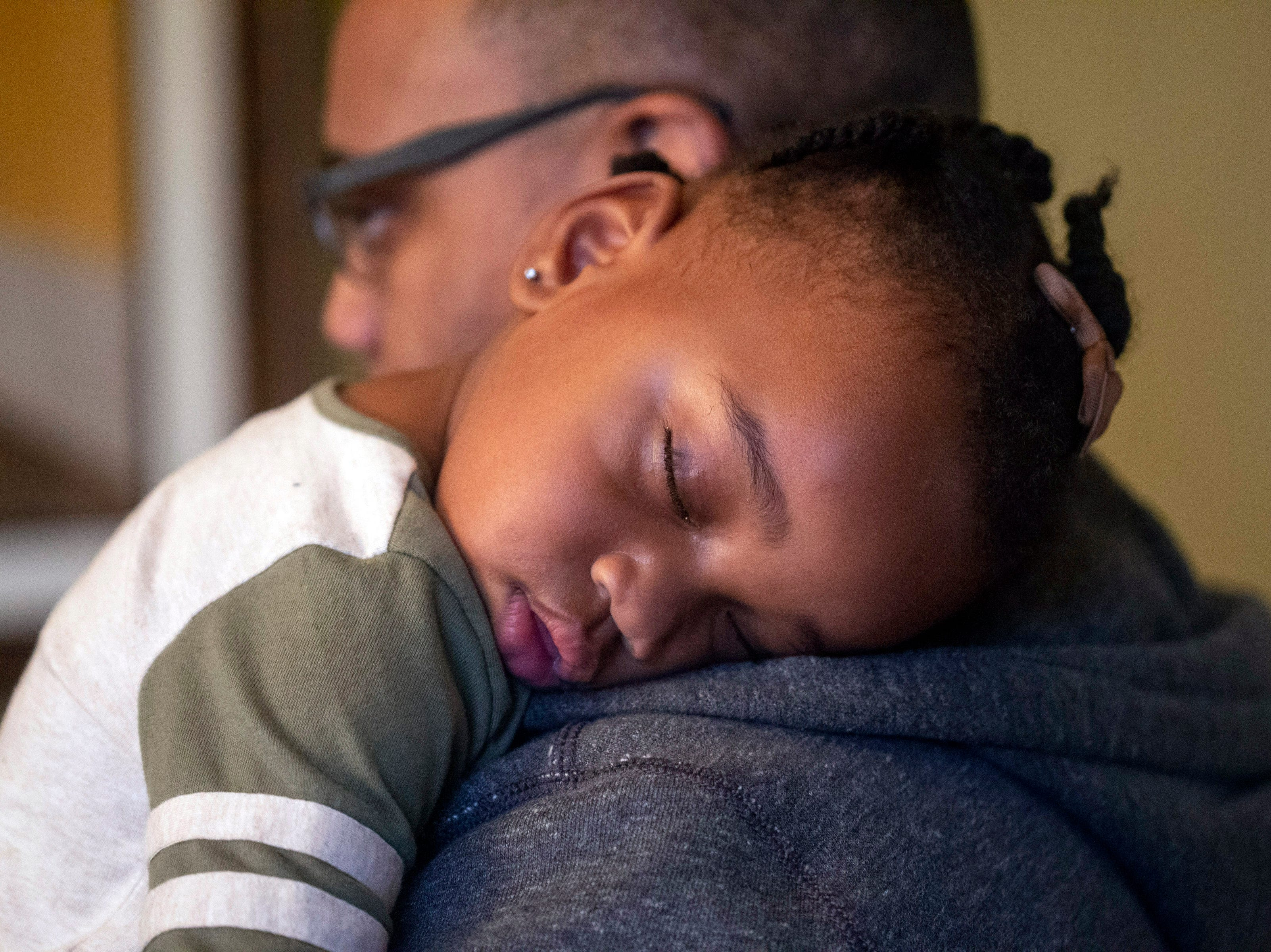 The Reverend Kevin Cosby's 2-year-old granddaughter Zuri Gaither fell asleep before family dinner on the Saturday after Thanksgiving. 11/24/18