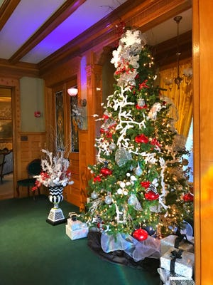 Display at Rahr-West Art Museum's Christmas in the Mansion from 2017.