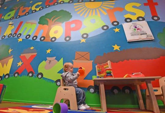 Judah Boggs, 2, plays Wednesday morning at Little Buckeye Children's Museum.