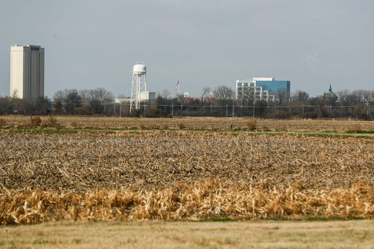 November 28 2018 - Casinos are seen in the distance from Old Highway 61 in Robinsonville, Mississippi. Caesars Entertainment Corporation announced Tuesday it will cease gaming operations at Tunica Roadhouse Casino, effective January 31, 2019, according to a press release.