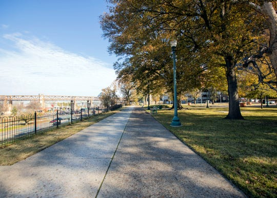 Fourth Bluff Park, which previously housed a monument to Confederate President Jefferson Davis, now serves as  green space in the downtown Memphis.