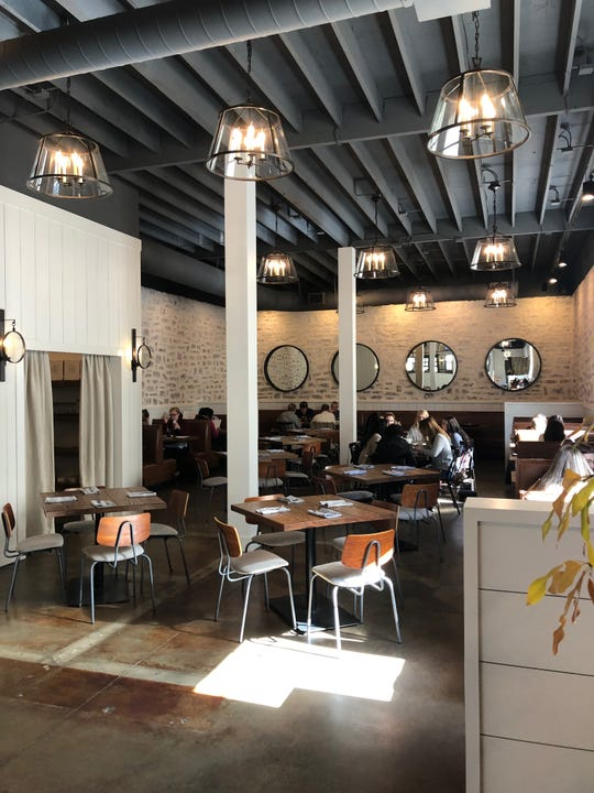 The new dining room at the recently renovated Venice Kitchen, formerly Old Venice Pizza Company.