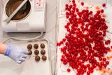 Stephanie Taylor and Sherry Creasman first started making chocolate-dipped cherries to give as Christmas gifts.