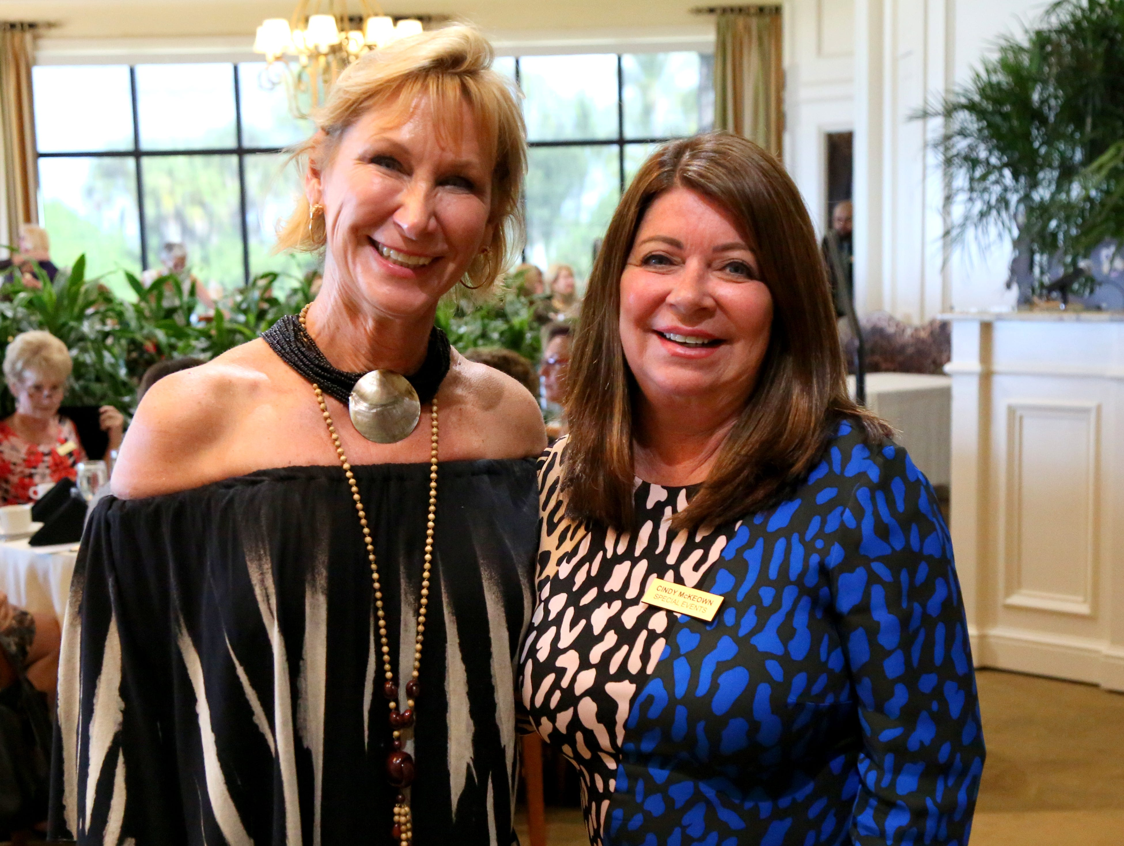 Special event organizers Michele Senda and Cindy McKeown organized the 2018 Welcome Back Luncheon & Fashion Show.