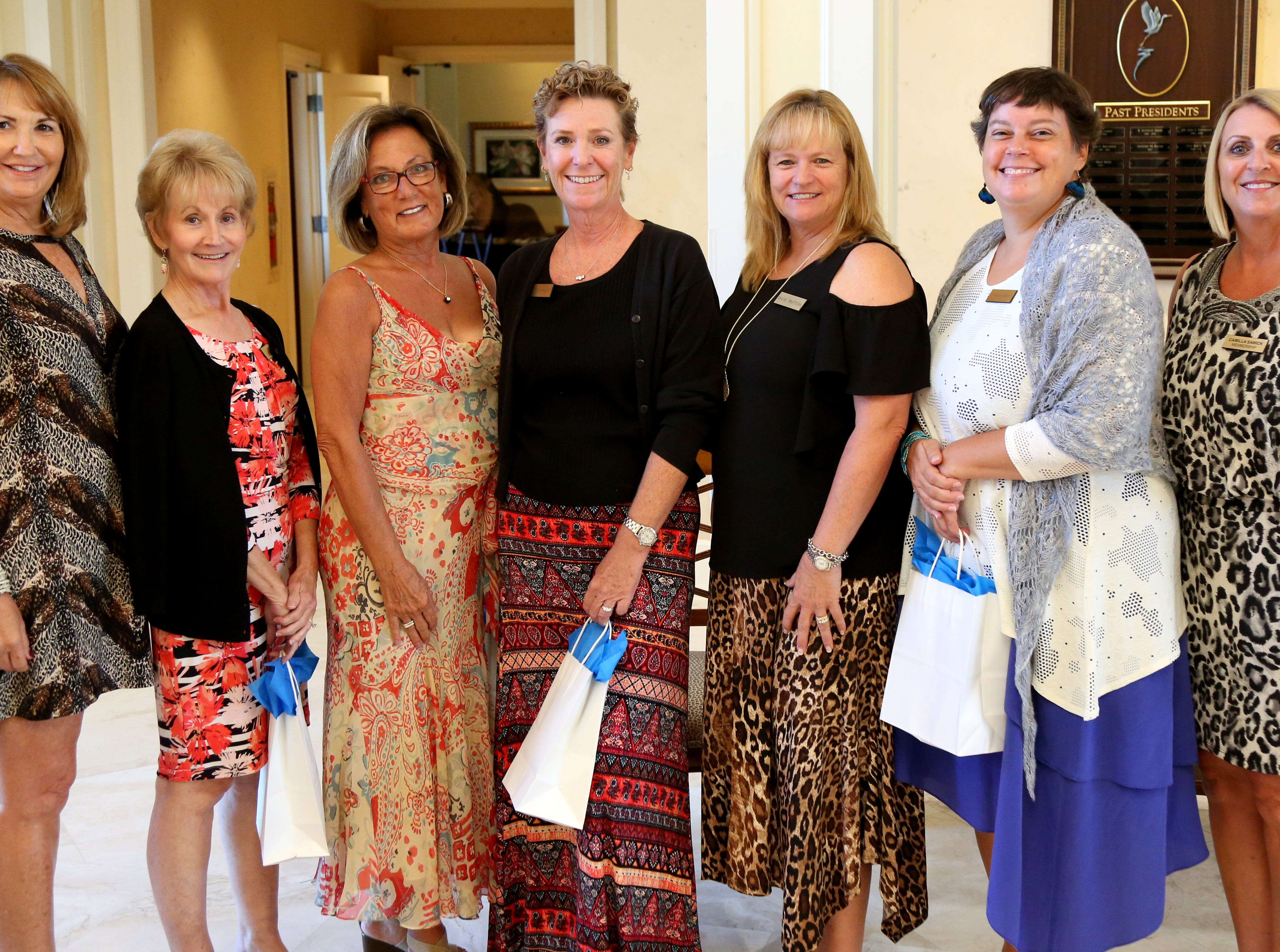 Marco Island Newcomers Club recently welcomed five new members at the Newcomers Welcome Back Luncheon & Fashion Show. Membership chairs with new members are, from left: Membership Chair Debbie Kelly, Patty Crain-Stroud, Sue Little, Laura Zappala, Diane Tretton, Caroline Reich, and Membership Chair Camilla Sawick.