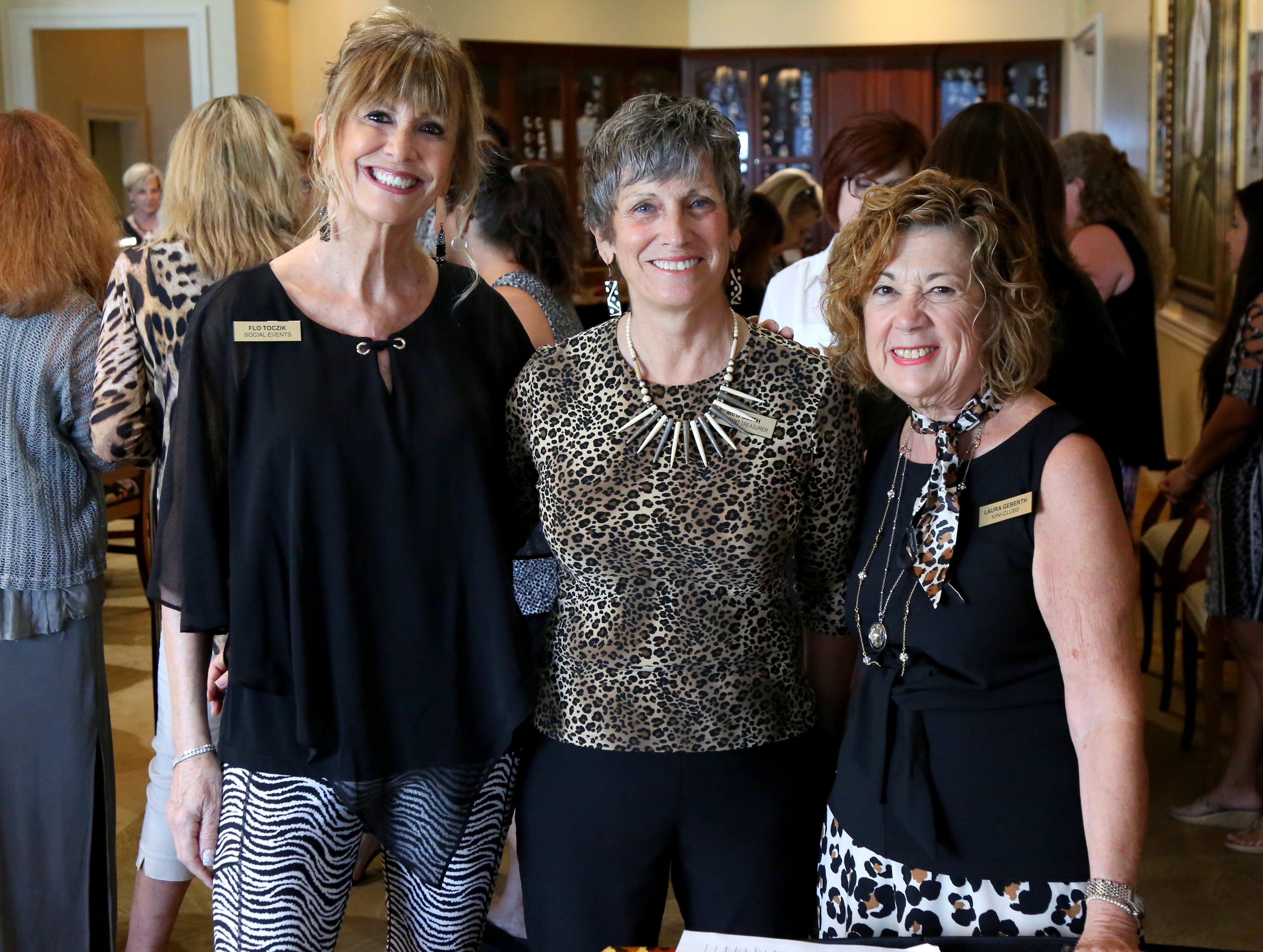 Flo Toczik, from left, Meg Smith, Laura Geberth.