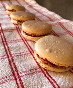 Spiced Macarons with Cranberry Buttercream are a festive, if fussy, little cookie.