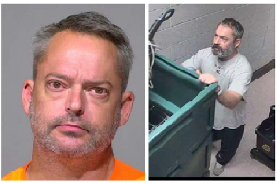 Authorities were searching for Douglas Slock II after he ran away from the Milwaukee County Jail early Wednesday while on garbage duty. (Photos: Milwaukee County Sheriff's Office)
