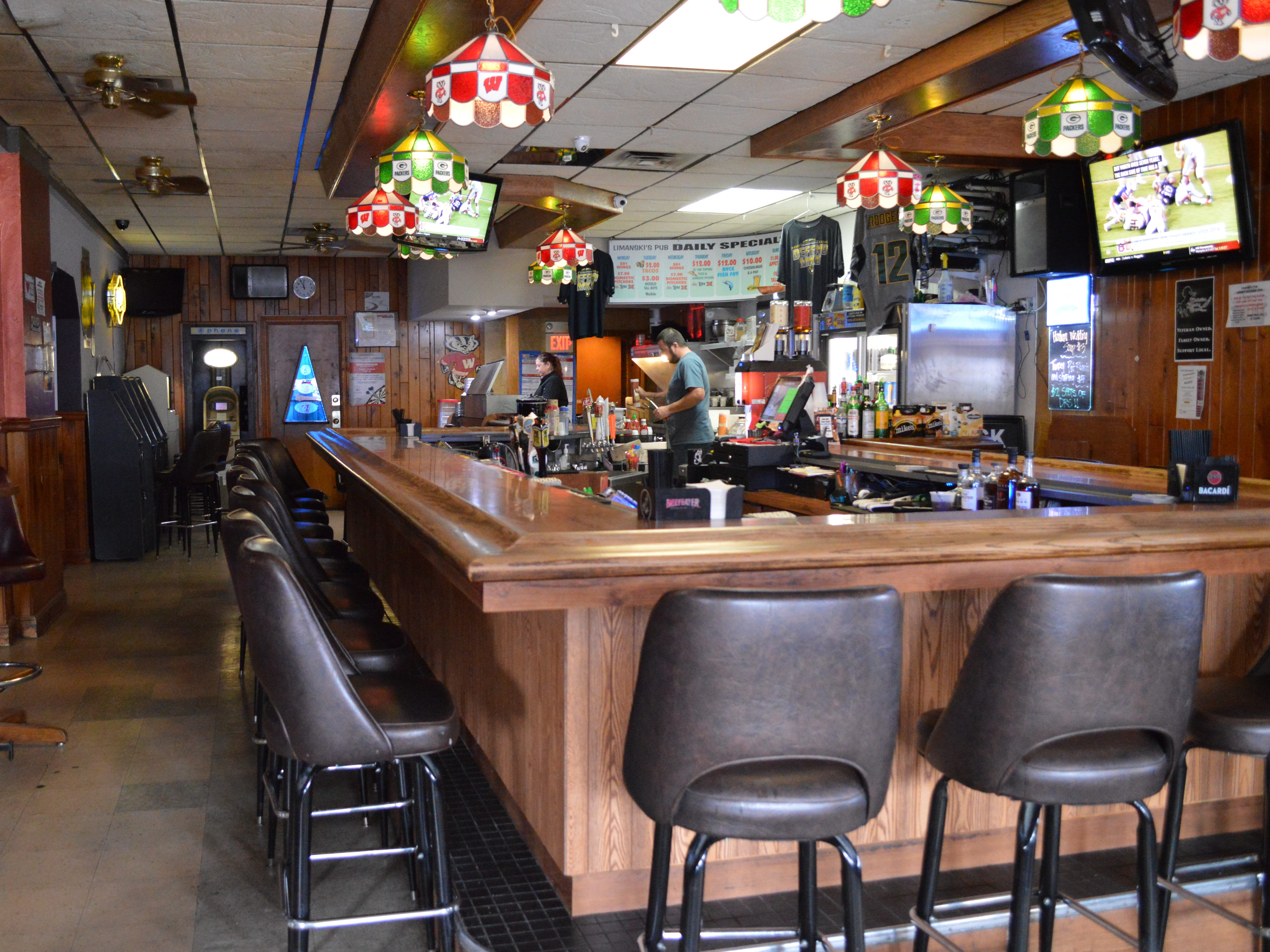 Most of the menu at Limanski's Pub is made in-house, including burgers, wings and pizzas, said Kat Limanski, owner and chef.