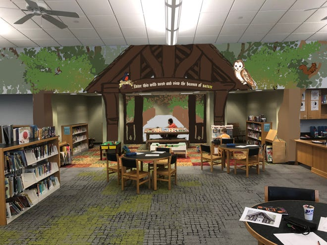A local artist is painting a mural of the Seven Bridges trail entry in Grant Park at the South Milwaukee Public Library. The mural is expected to be completed in December.